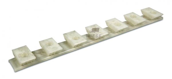 Kunststoff Gleitkamm weiß H=32mm