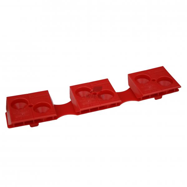 Kunststoff Gleitkamm 3/156,8 H32 rot (15-Bretter)