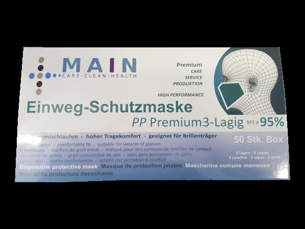 Einweg-Schutzmasken - Stoff - 3-lagig
